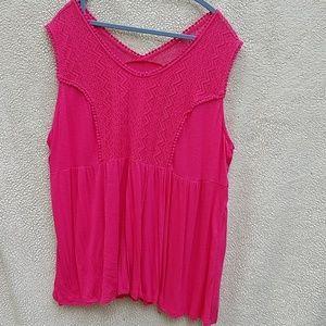 Terra and sky sleeveless shirt (size16 to 18)